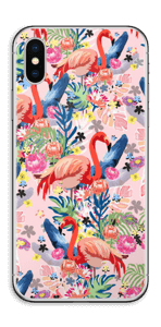 Flamingo Tropics Skin IPhone XS