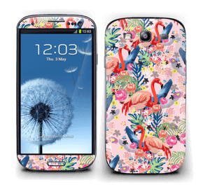 Flamingo Tropics Skin Galaxy S3