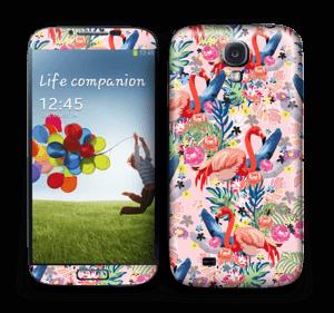 Flamingo Tropics Skin Galaxy S4