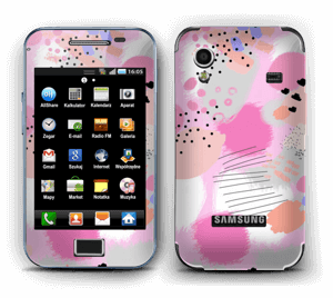 Abstract pink Skin Galaxy Ace