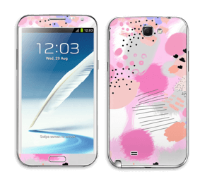 Abstract pink Skin Galaxy Note 2