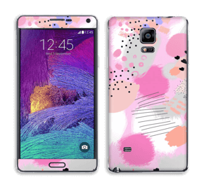 Abstract pink Skin Galaxy Note 4