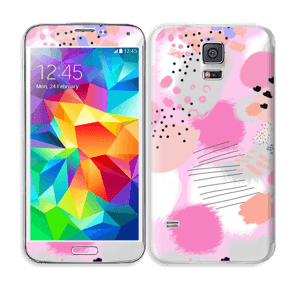 Abstract pink Skin Galaxy S5