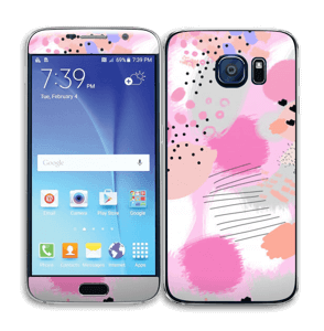 Abstract pink Skin Galaxy S6