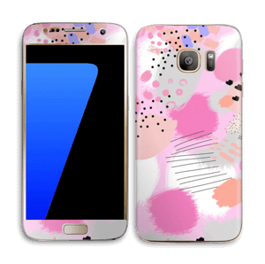 Abstract pink Skin Galaxy S7