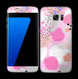 Abstract pink Skin Galaxy S7 Edge