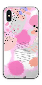 Abstraktes Rosa Skin IPhone X