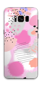 Abstract pink Skin Galaxy S8