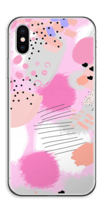 Abstract pink Skin IPhone XS
