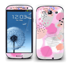Abstract pink Skin Galaxy S3
