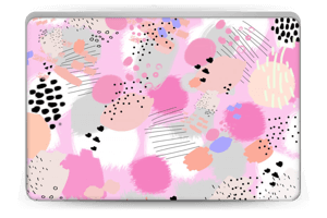 Abstract pink Skin Laptop 15.6