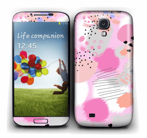 Abstract pink Skin Galaxy S4