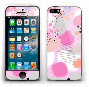 Abstract pink Skin IPhone 5s