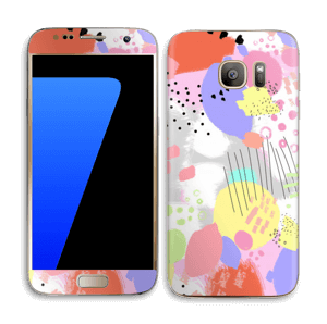 Abstract colours Skin Galaxy S7