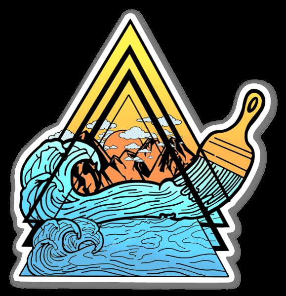 Paint the sea sticker