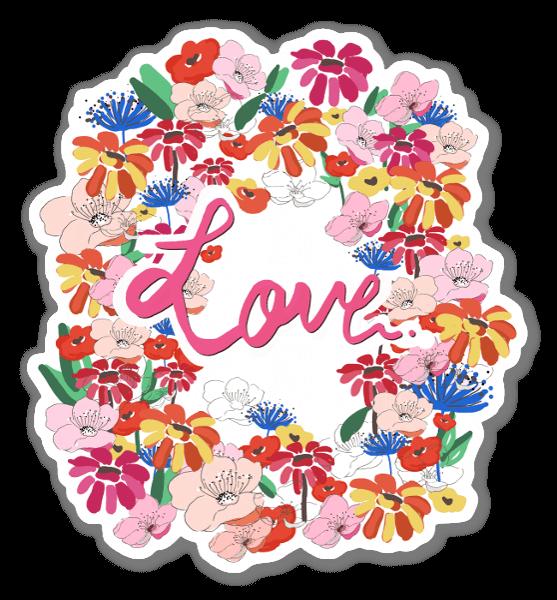Love fleurs sticker