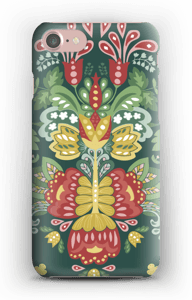 Green flowers case IPhone 7