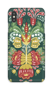Green flowers case IPhone XS Max