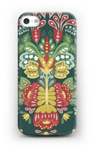Green flowers case IPhone 5/5S