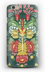 Green flowers case IPhone 6