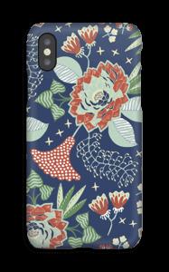 Blue garden case IPhone X