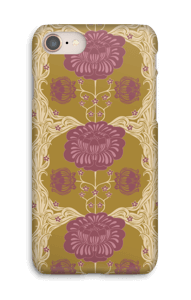 Brown flowers case IPhone 8