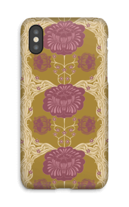 Brown flowers case IPhone X