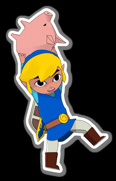 Toon Link pegatina