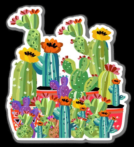 Jardín de Cactus pegatina