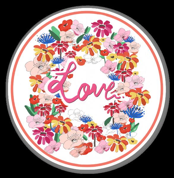 Amour fleurs sticker