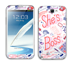 Her Office. Skin Galaxy Note 2