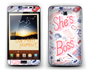 She's the Boss Skin Galaxy Note