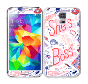 Her Office. Skin Galaxy S5