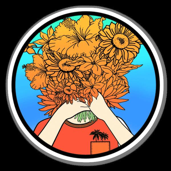 Solsikkebukett sticker