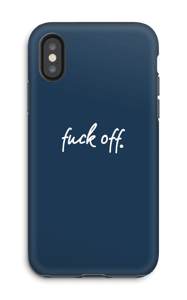 Fuck off. merensininen kuoret IPhone X tough