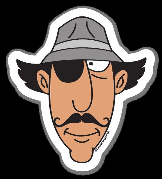 Inspector Pirata pegatina