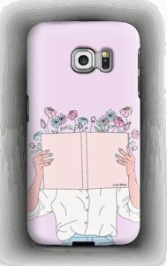 Blomsterbok deksel Galaxy S6 Edge