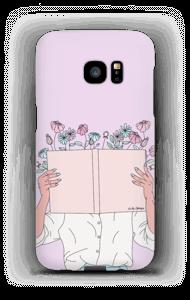 Blomsterbok deksel Galaxy S7 Edge