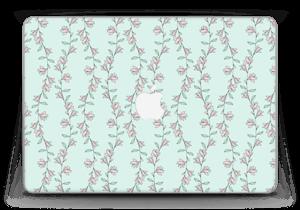 "Roses sur bleu Skin MacBook Pro Retina 13"" 2015"