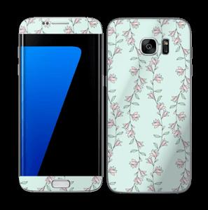 Light Pink Flowers Skin Galaxy S7 Edge