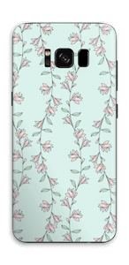 Light Pink Flowers Skin Galaxy S8