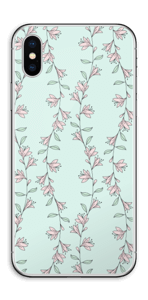 Light Pink Flowers Skin IPhone XS