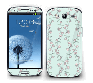 Light Pink Flowers Skin Galaxy S3