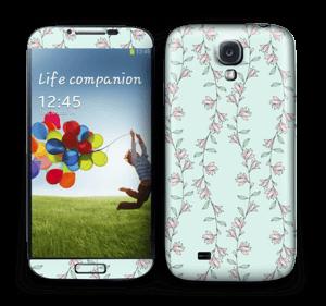 Light Pink Flowers Skin Galaxy S4
