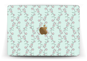 "Light Pink Flowers Skin MacBook 12"""