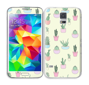 Cactus All Over   Skin Galaxy S5