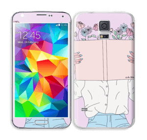 Book Of Flowers Skin Galaxy S5
