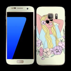 Blondie Fleurie Skin Galaxy S7