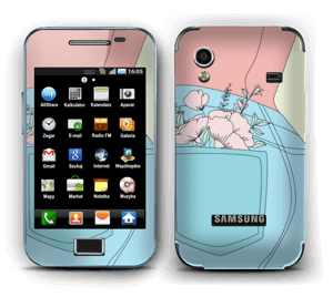 Floral Jeans Skin Galaxy Ace