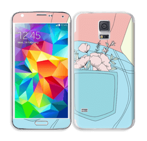 Floral Jeans Skin Galaxy S5